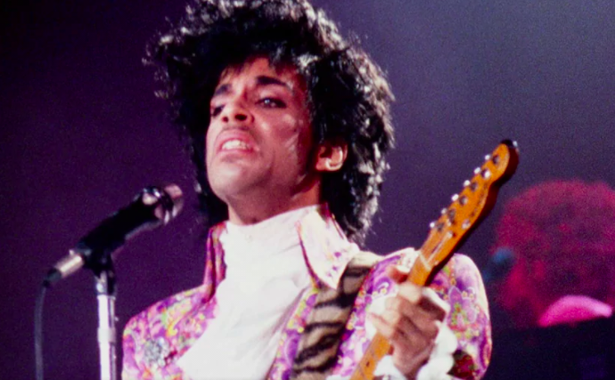 Prince performing at his 1987 European tour