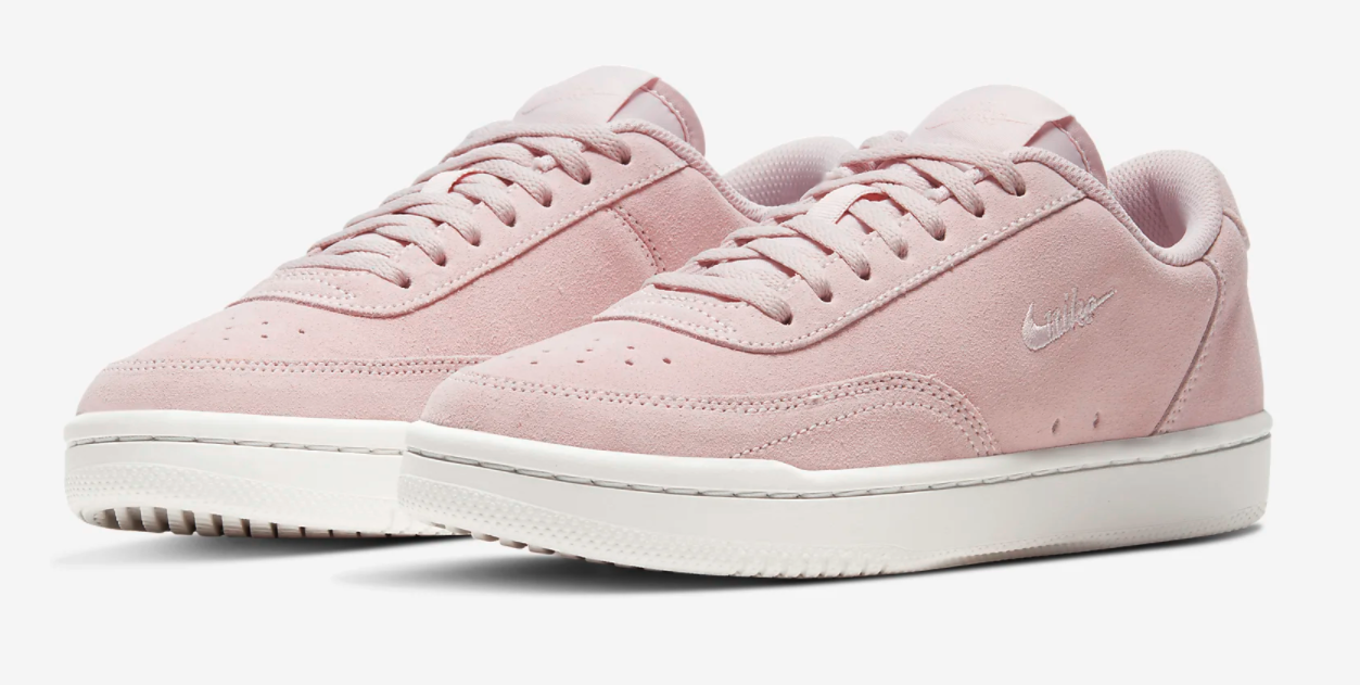 The sneakers in pink