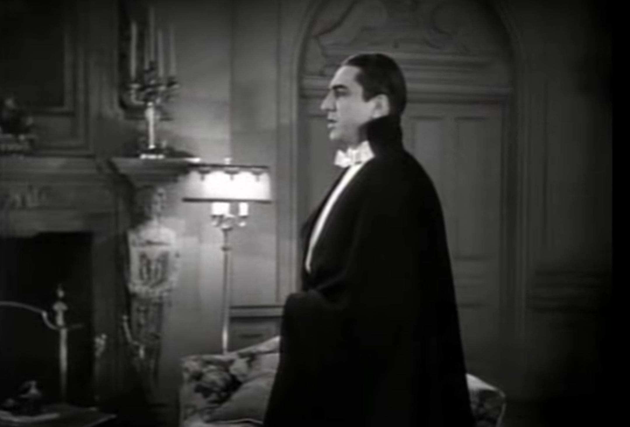 dracula standing up while talking