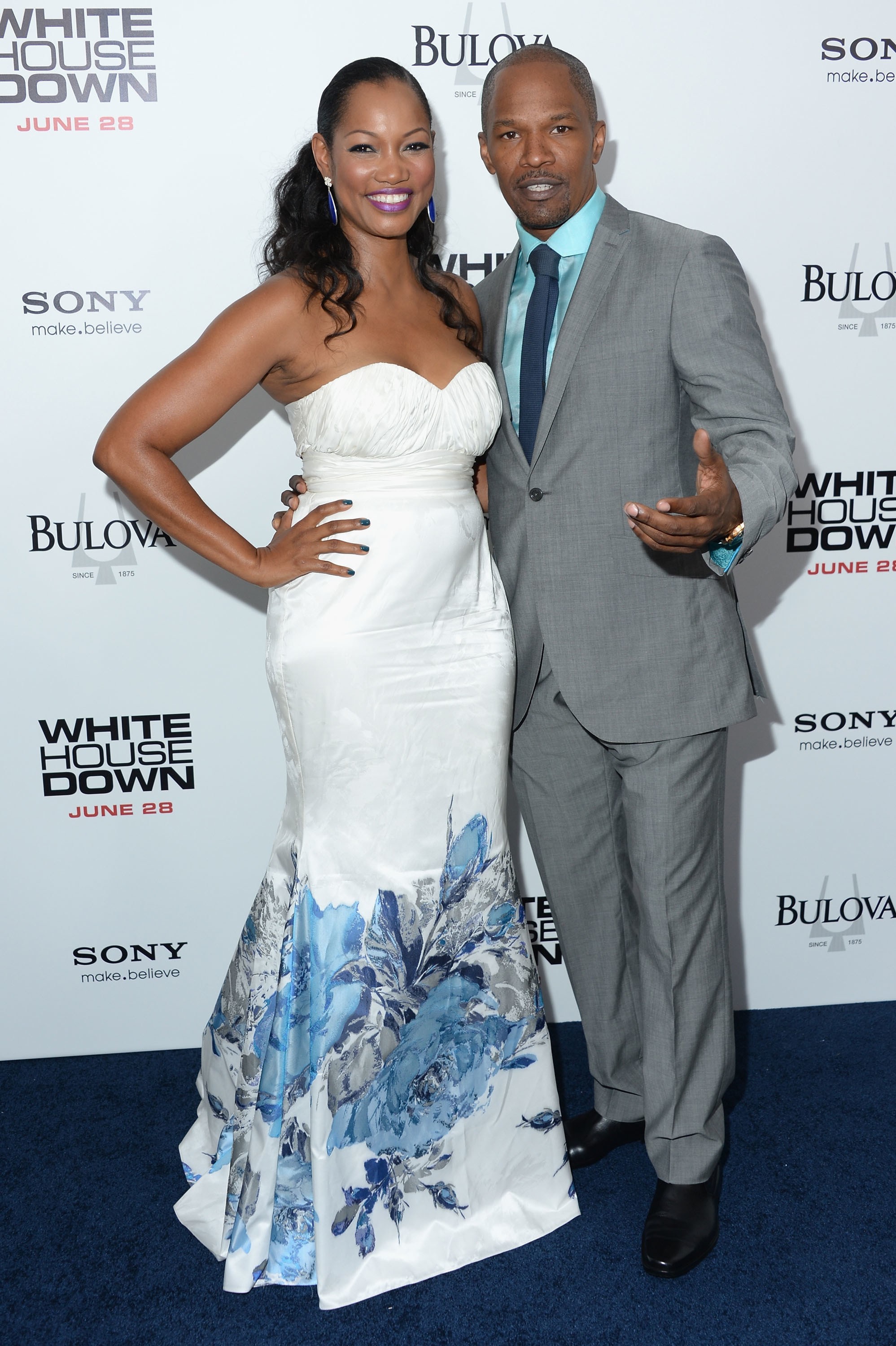 Jamie and Garcelle posing together at a movie premiere