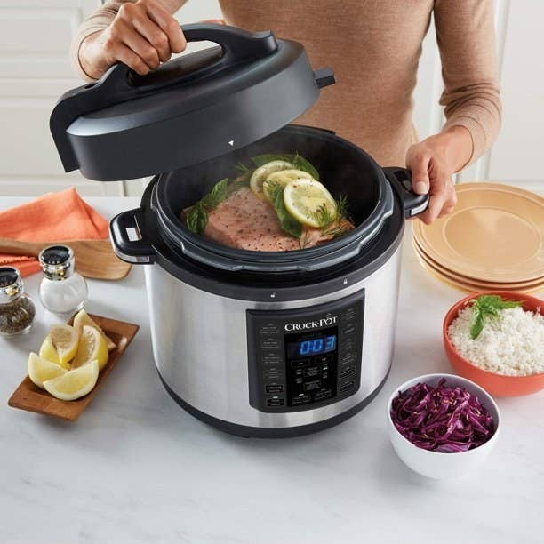 The silver crock pot