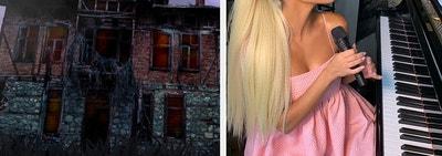 Haunted house and Kourtney Kardashian.