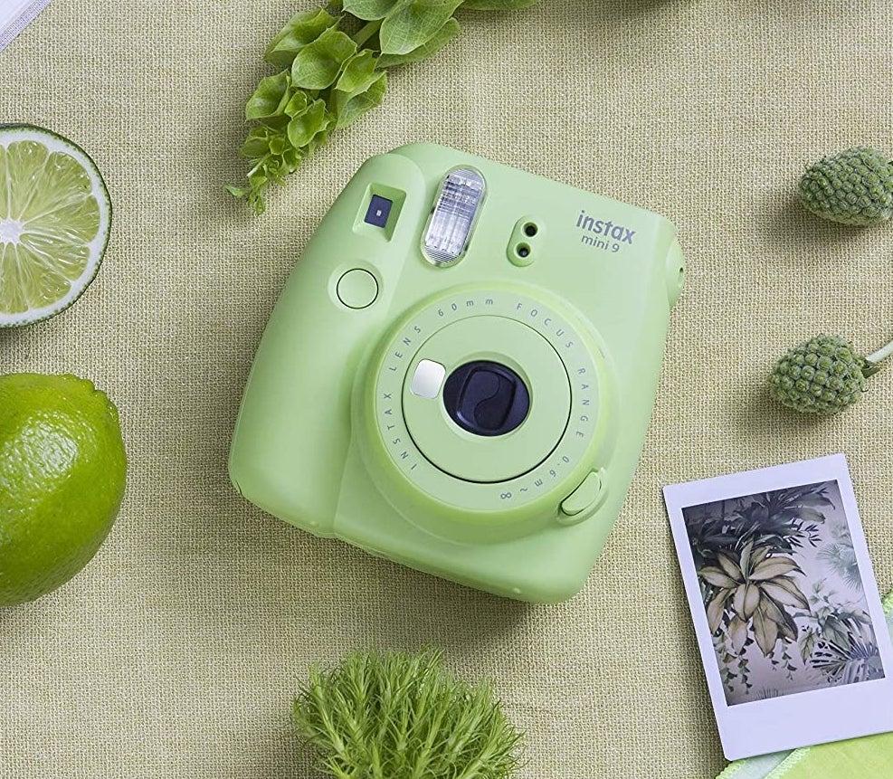 line green square instax camera