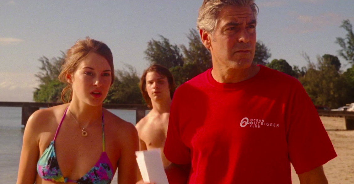 """Shailene Woodley and George Clooney in """"The Descendants"""""""