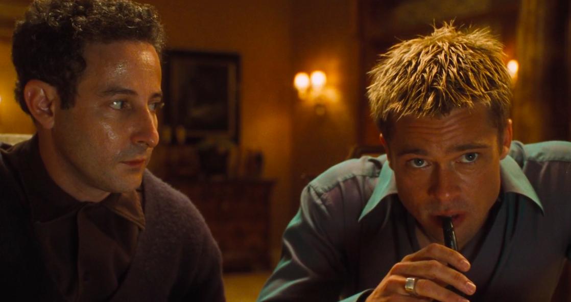 "Brad Pitt in ""Oceans Eleven"""
