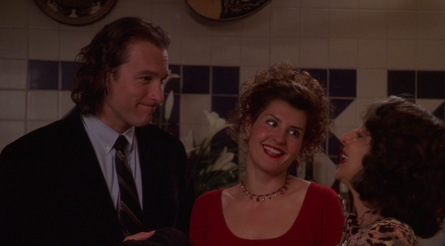 "John Corbett and Nia Vardalos in ""My Big Fat Greek Wedding"""
