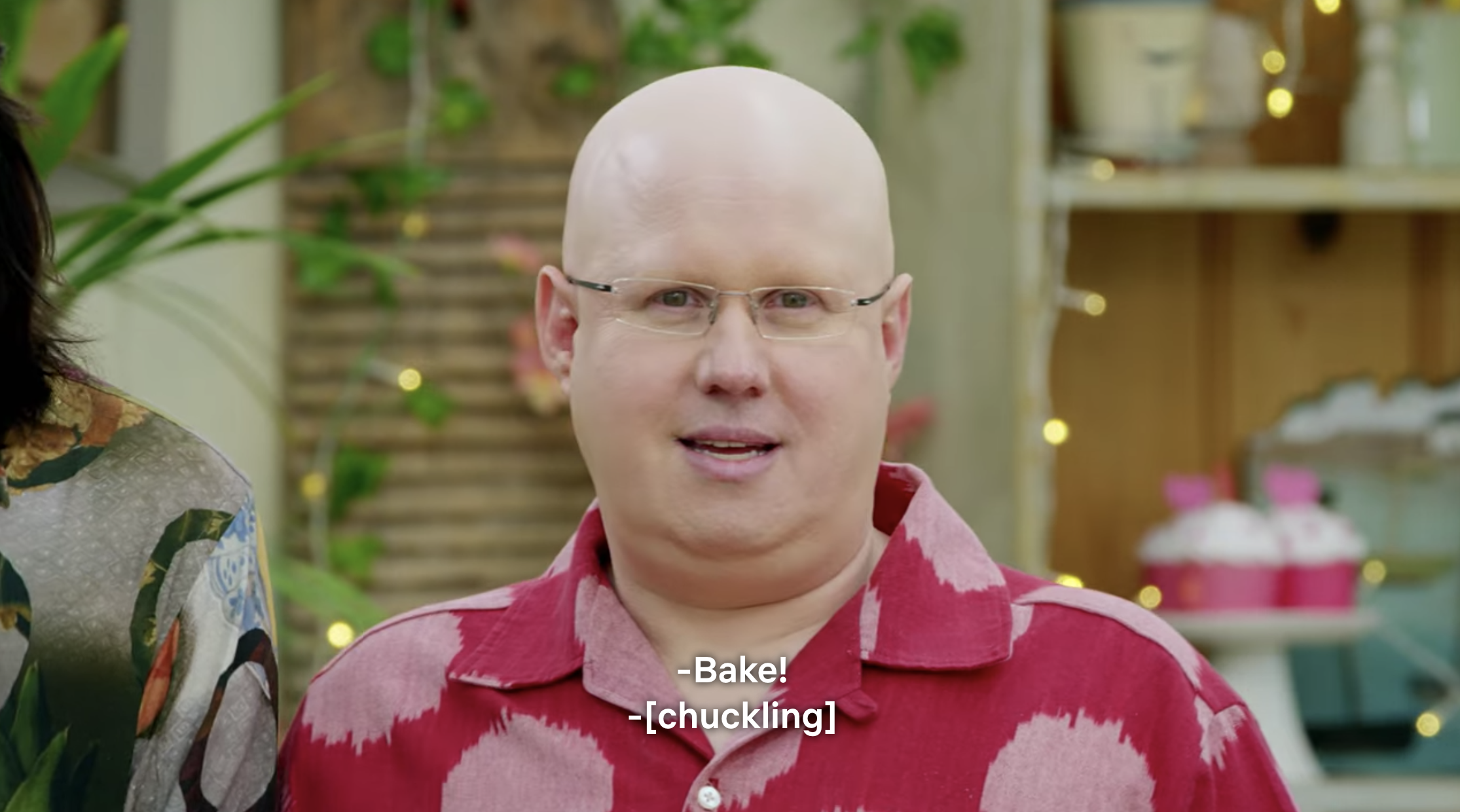 "Matt Lucas saying ""Bake!"""