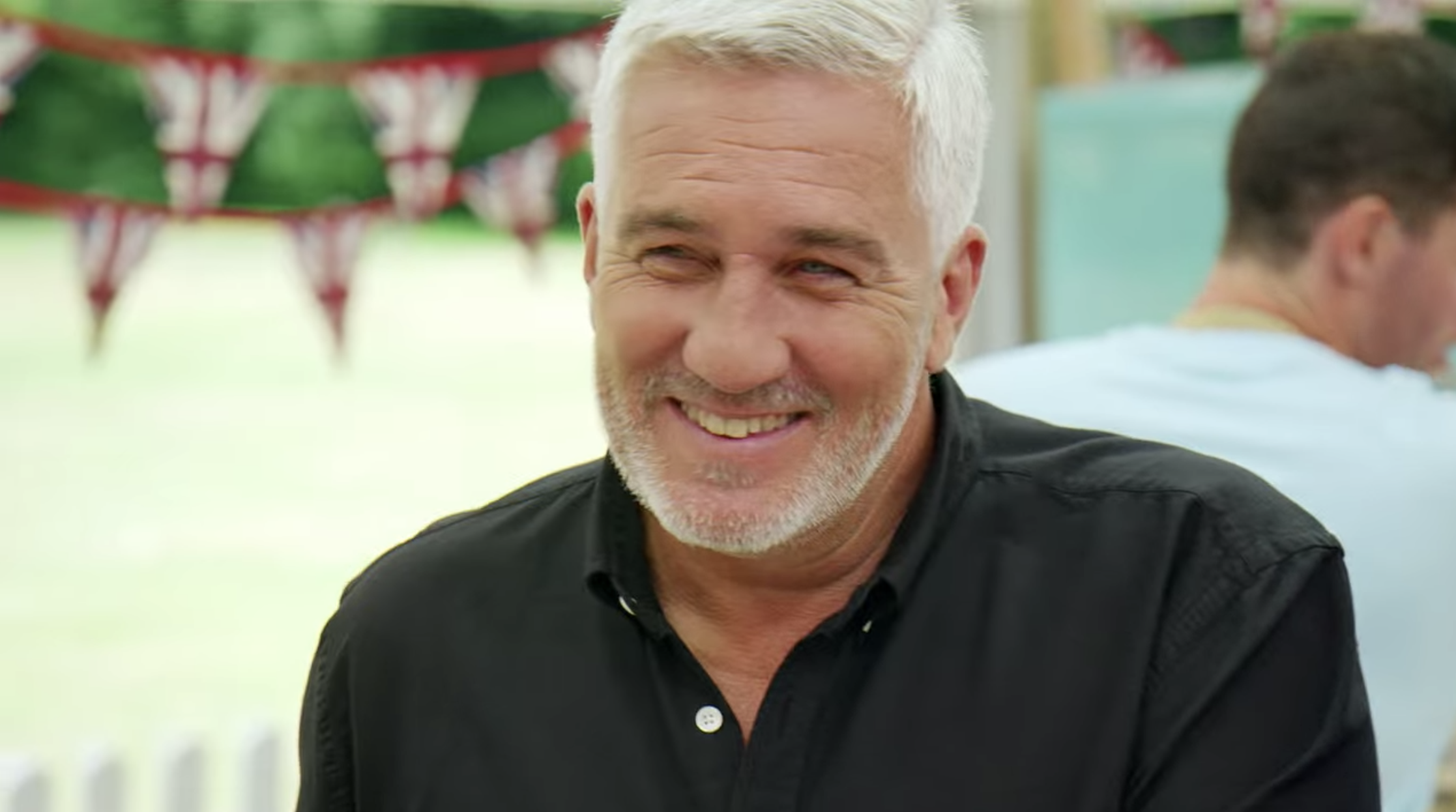 Paul Hollywood laughing