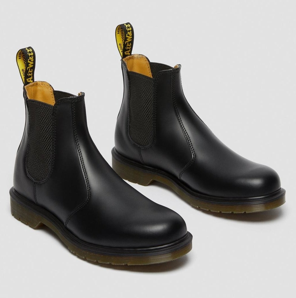 The chunky-soled black boots