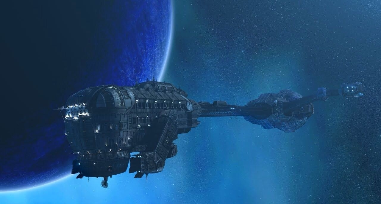 """A spaceship in outer space from """"Event Horizon"""""""