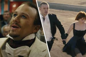 Heath Ledger in Imaginarium of Dr. Pernissus and Justin Timberlake in In Time