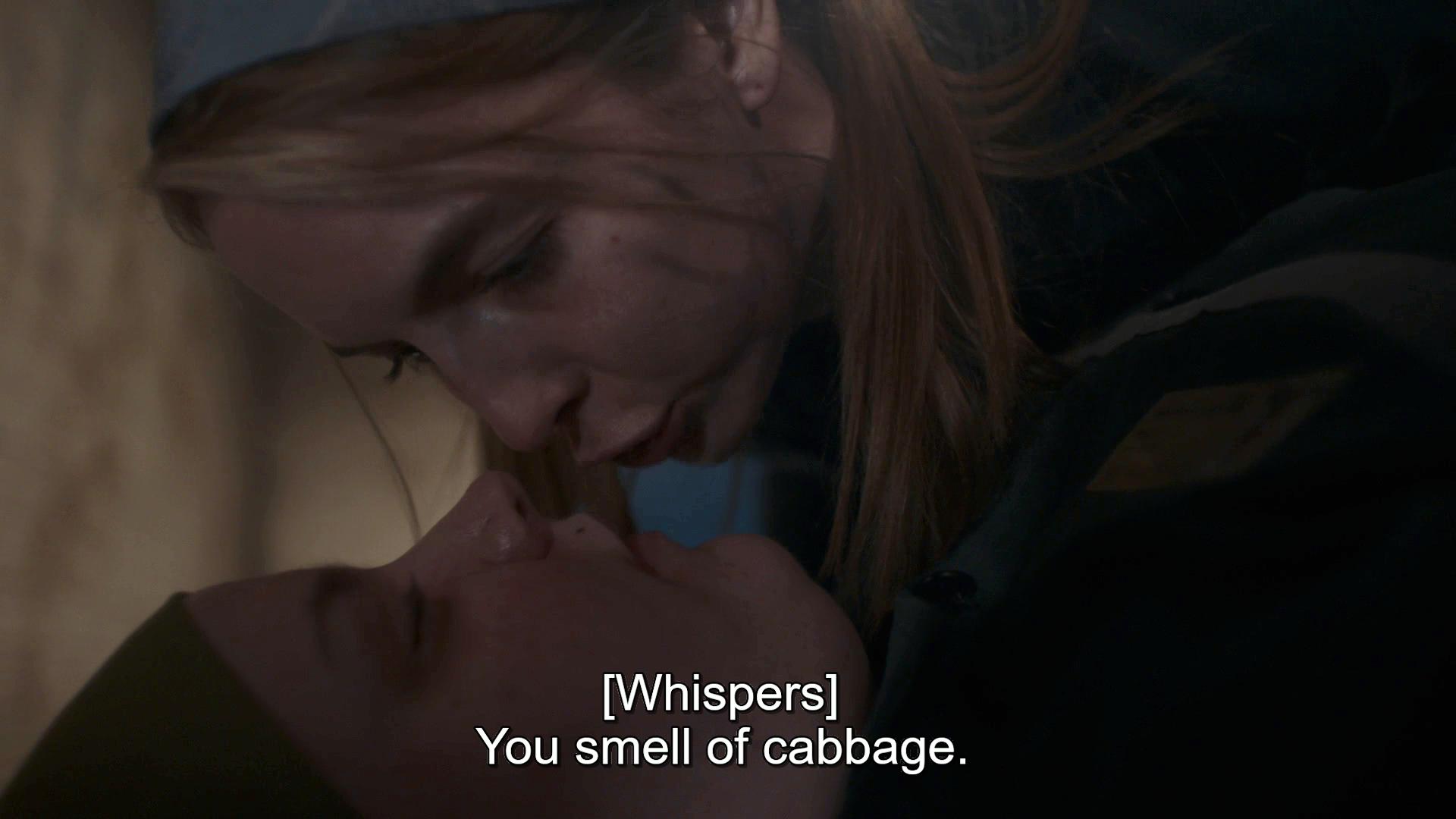 Villanelle telling Inga she smells like cabbage