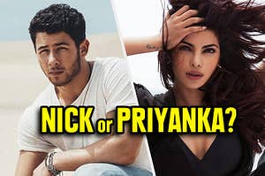 Joes Jonas and Priyanka Chopra in their own respective music videos