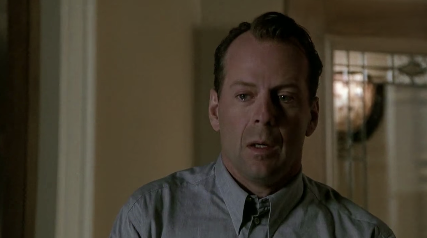 Bruce Willis at the end of The Sixth Sense