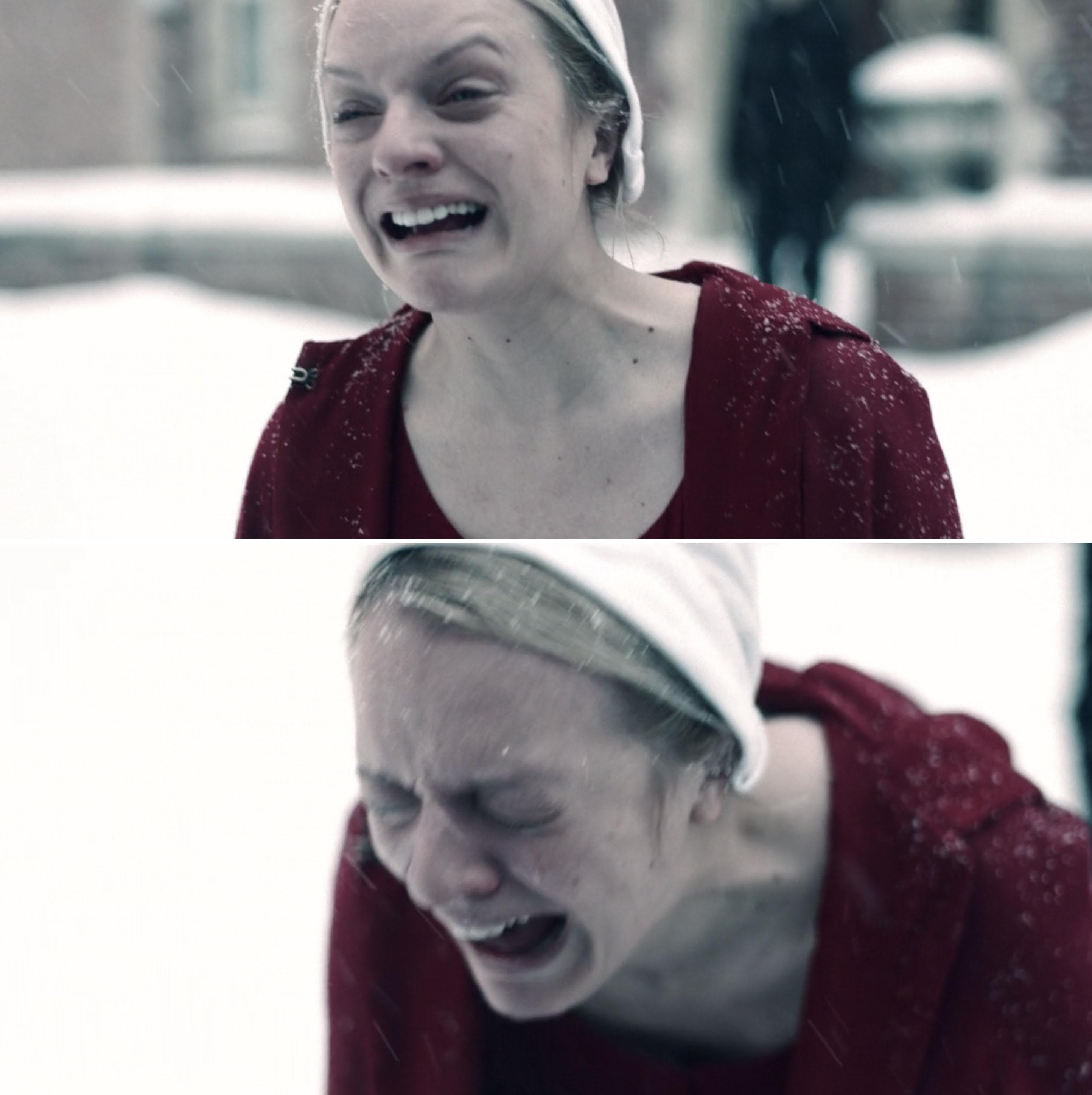 June sobbing in the snow