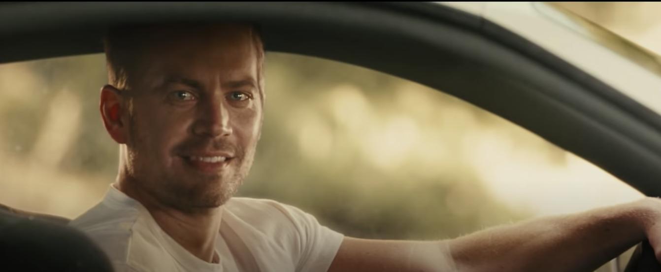 Paul Walker in a scene in Fast & Furious 7