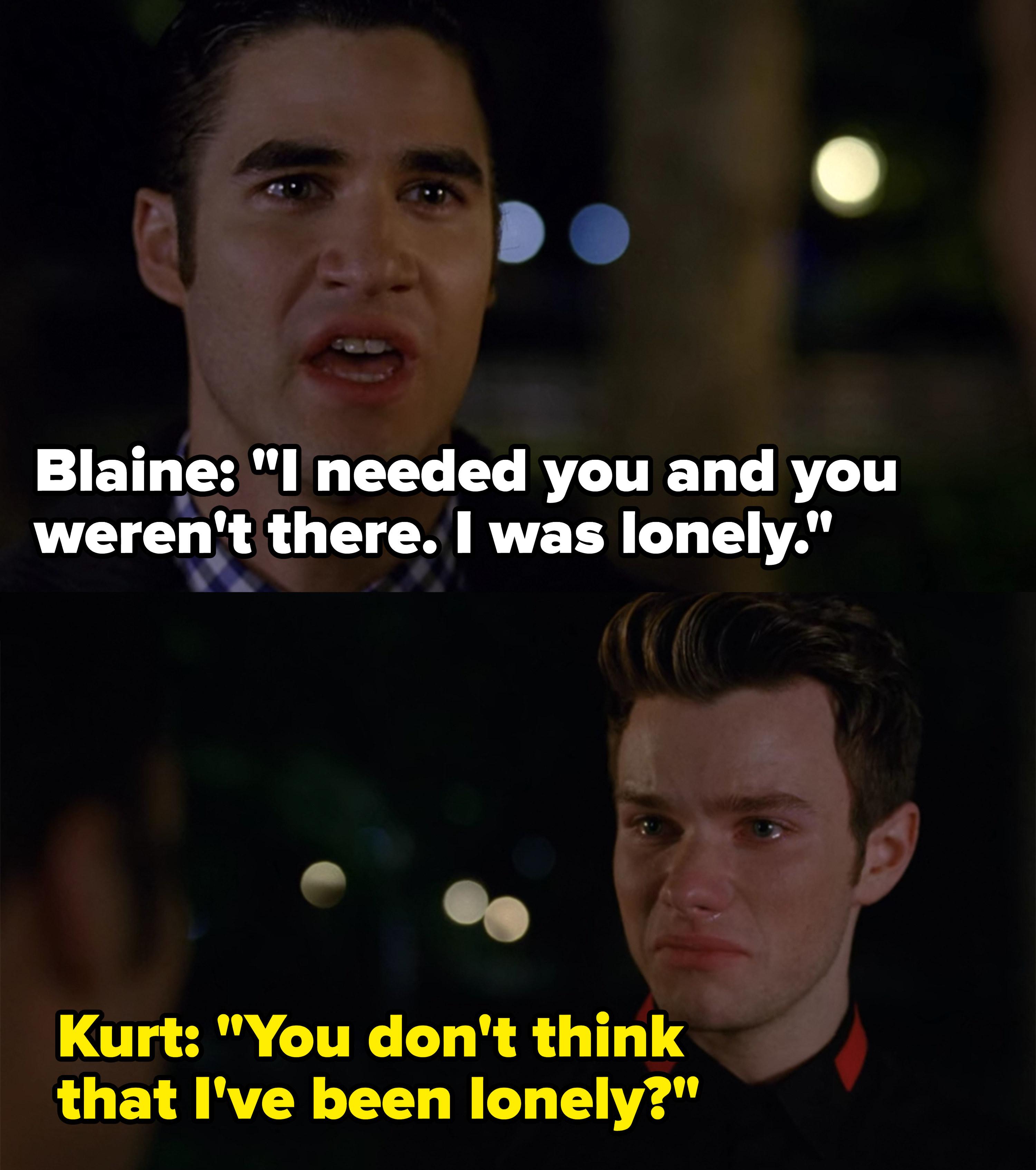 Blaine tells Kurt he cheated on him