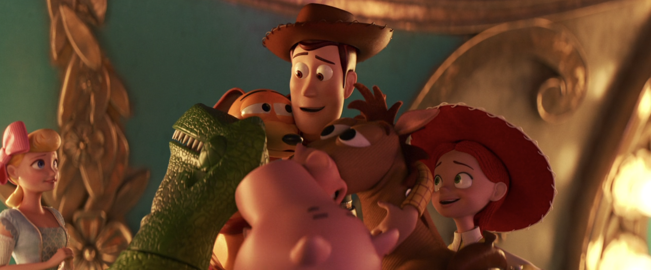 Woody says goodbye to all the toys in Toy Story 4