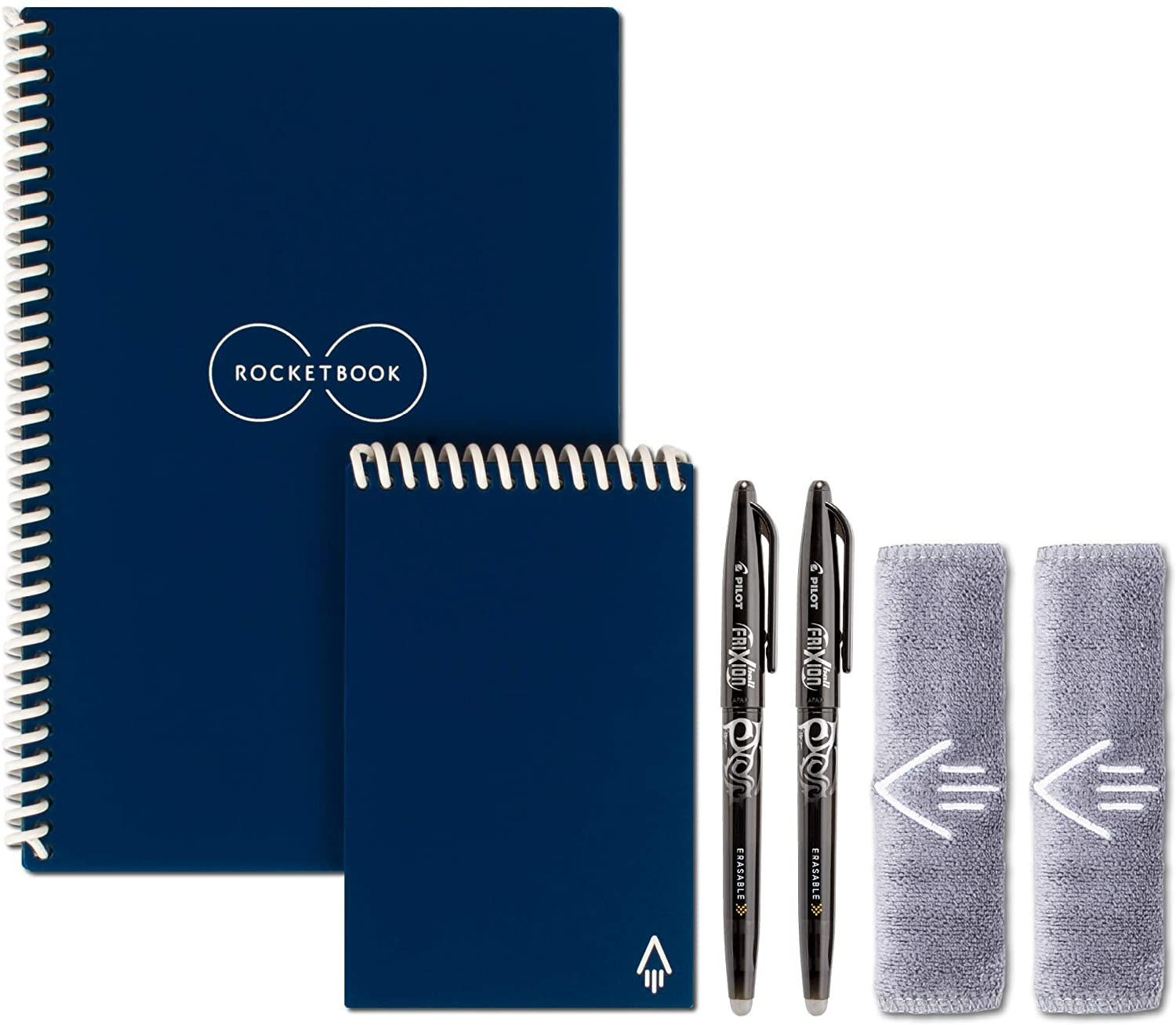 The notebooks in navy