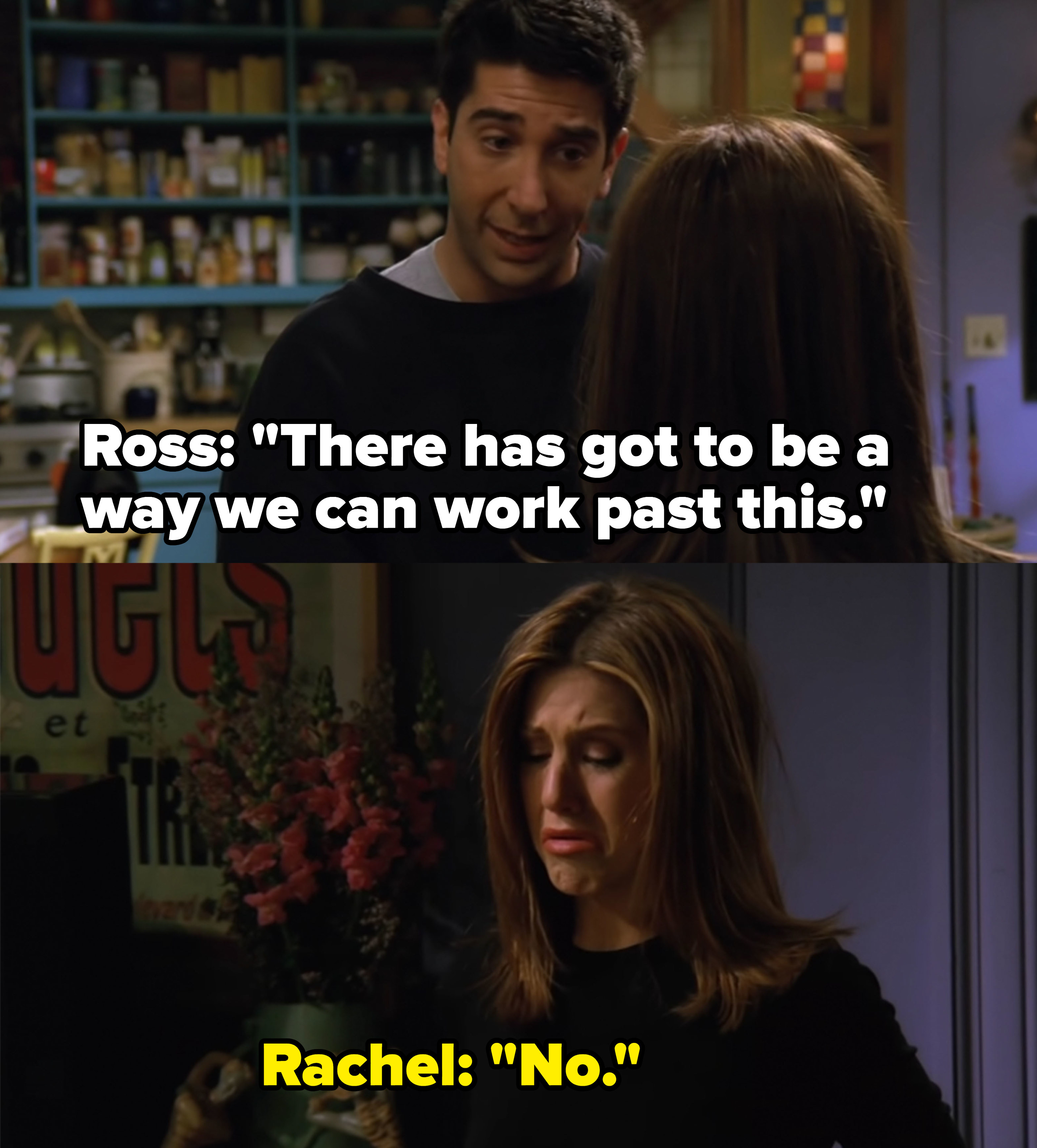 Rachel finds out Ross slept with someone else