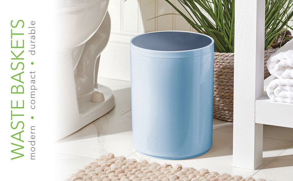 27 Garbage Cans That People Actually, Small Bathroom Trash Can With Swing Lid