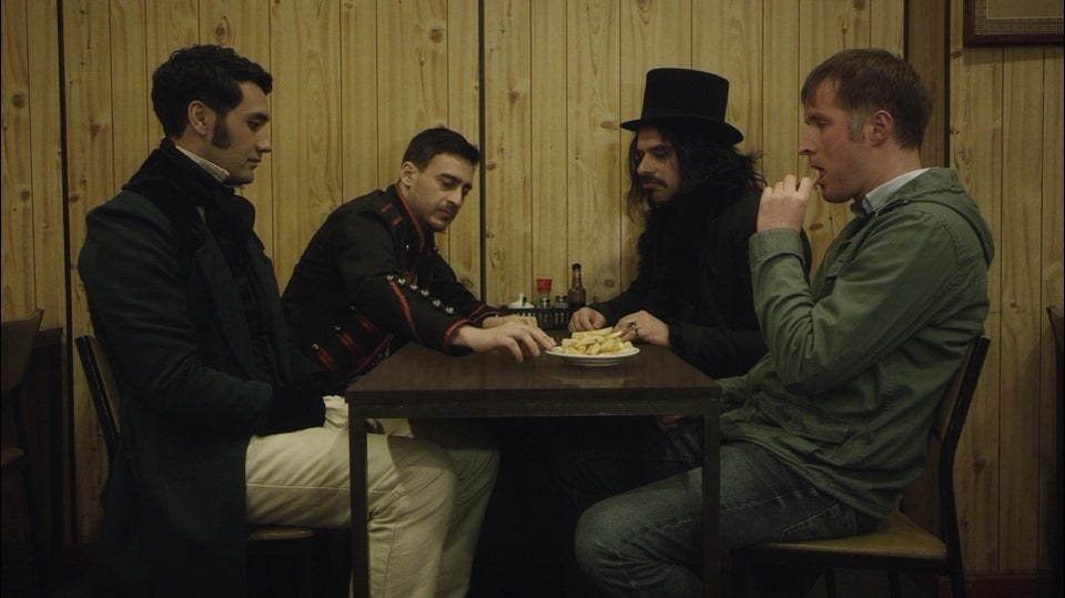 A scene from What We Do in the Shadows
