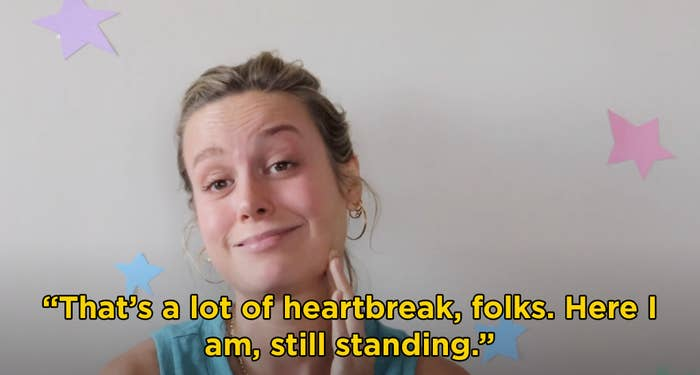 """Brie saying """"That's a lot of heartbreak, folks. Here I am, still standing"""""""