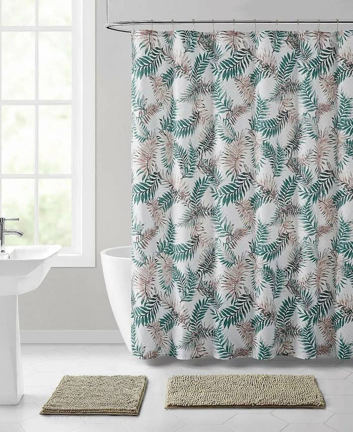 The tropical ferns shower curtian