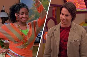 "On the left, Raven-Symone as Raven on ""That's So Raven,"" and on the right, Jerry Trainor as Spencer on ""iCarly"""