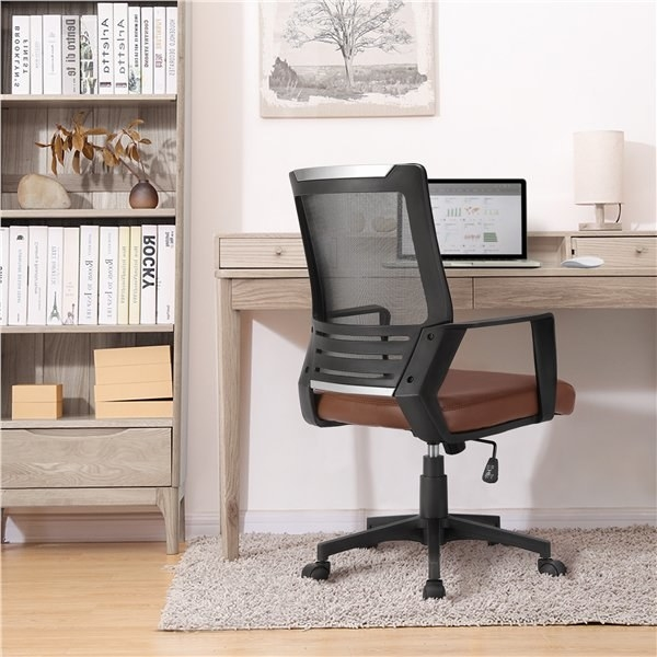 The black and brown office chair