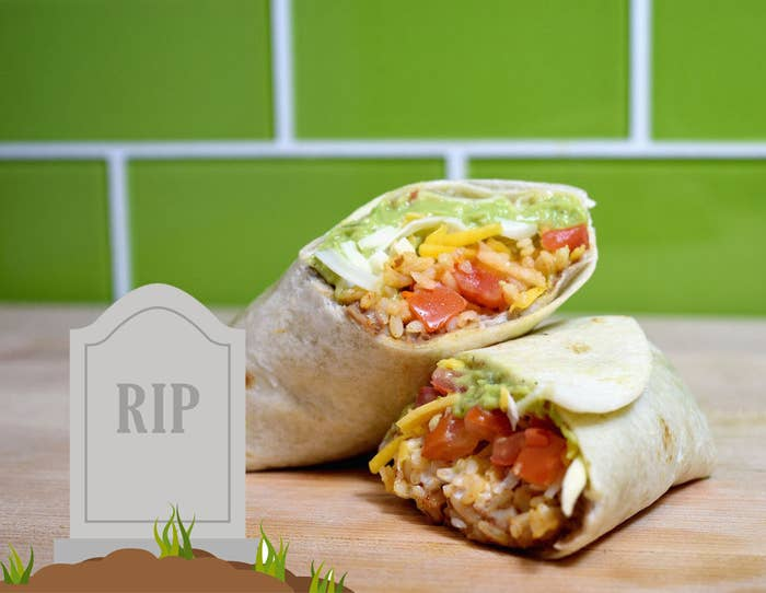 The seven layer burrito with a tombstone