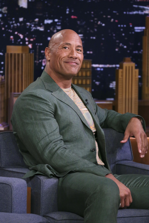 Actor Dwayne Johnson during an interview