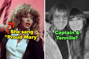 1980s Tina Turner and 1960s Sonny & Cher