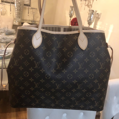 A bucket bag with the product