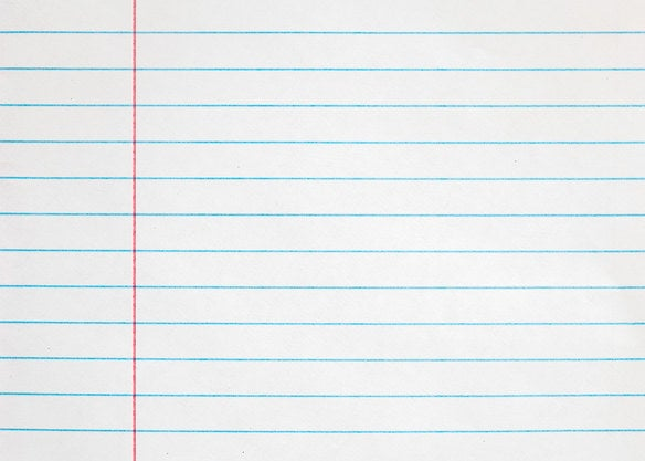 Notebook paper background