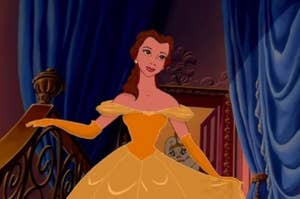 Belle in her ball gown
