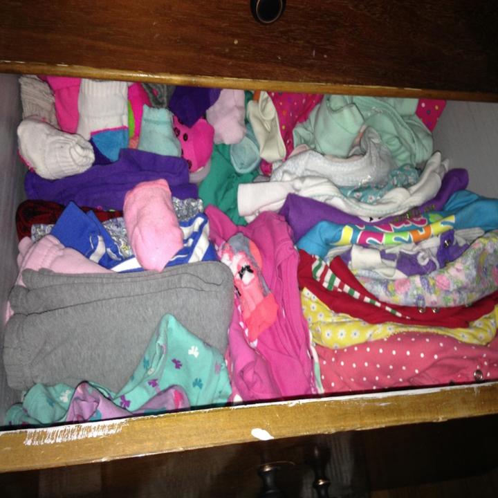 An unorganized drawer