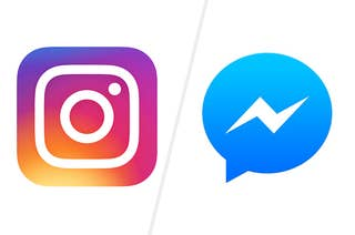 Instagram and Facebook Messenger icons