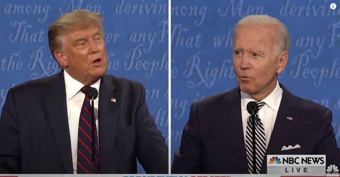 Biden and Trump debating