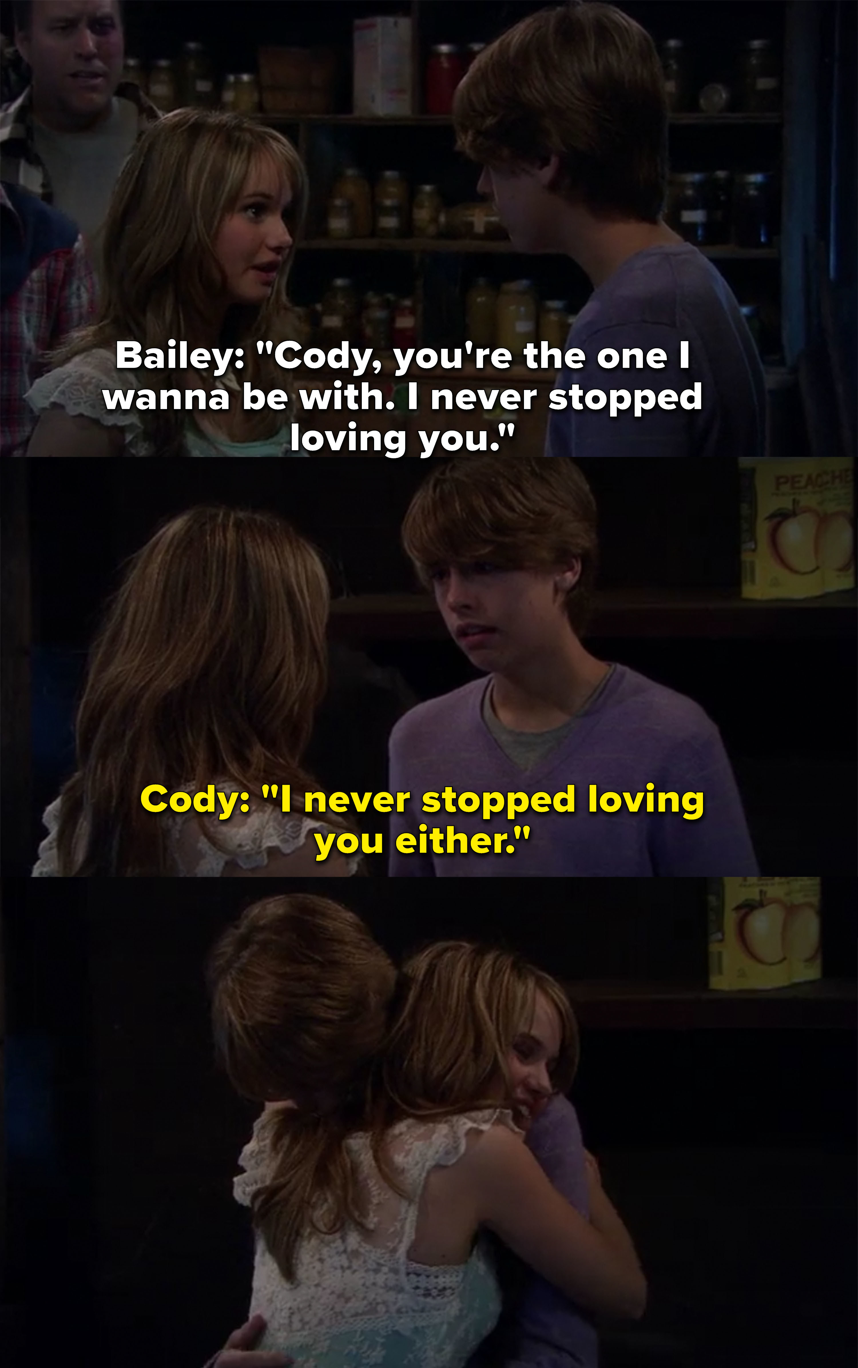 Bailey and Cody both say they never stopped loving each other