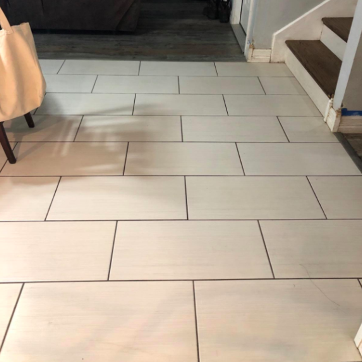 The same reviewer's tile floor now looking completely clean