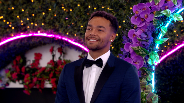 """Love Island"" contestant Caleb smiling"
