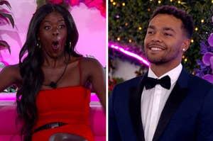 """Love Island"" contestants Justine and Caleb"