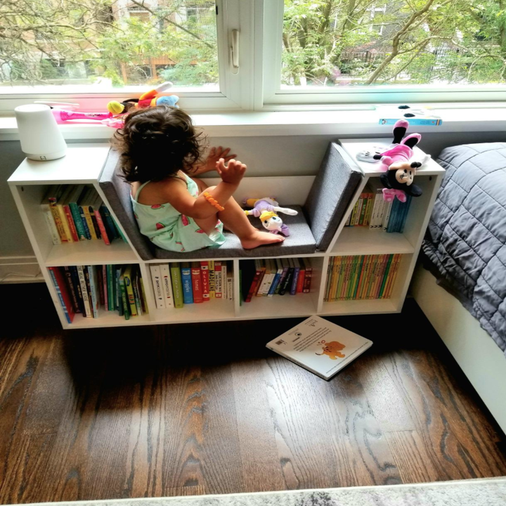 A child using the product