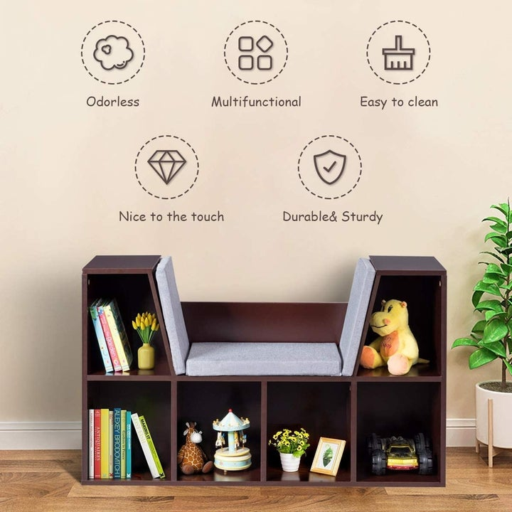 The bookcase is sturdy, odorless, and clean