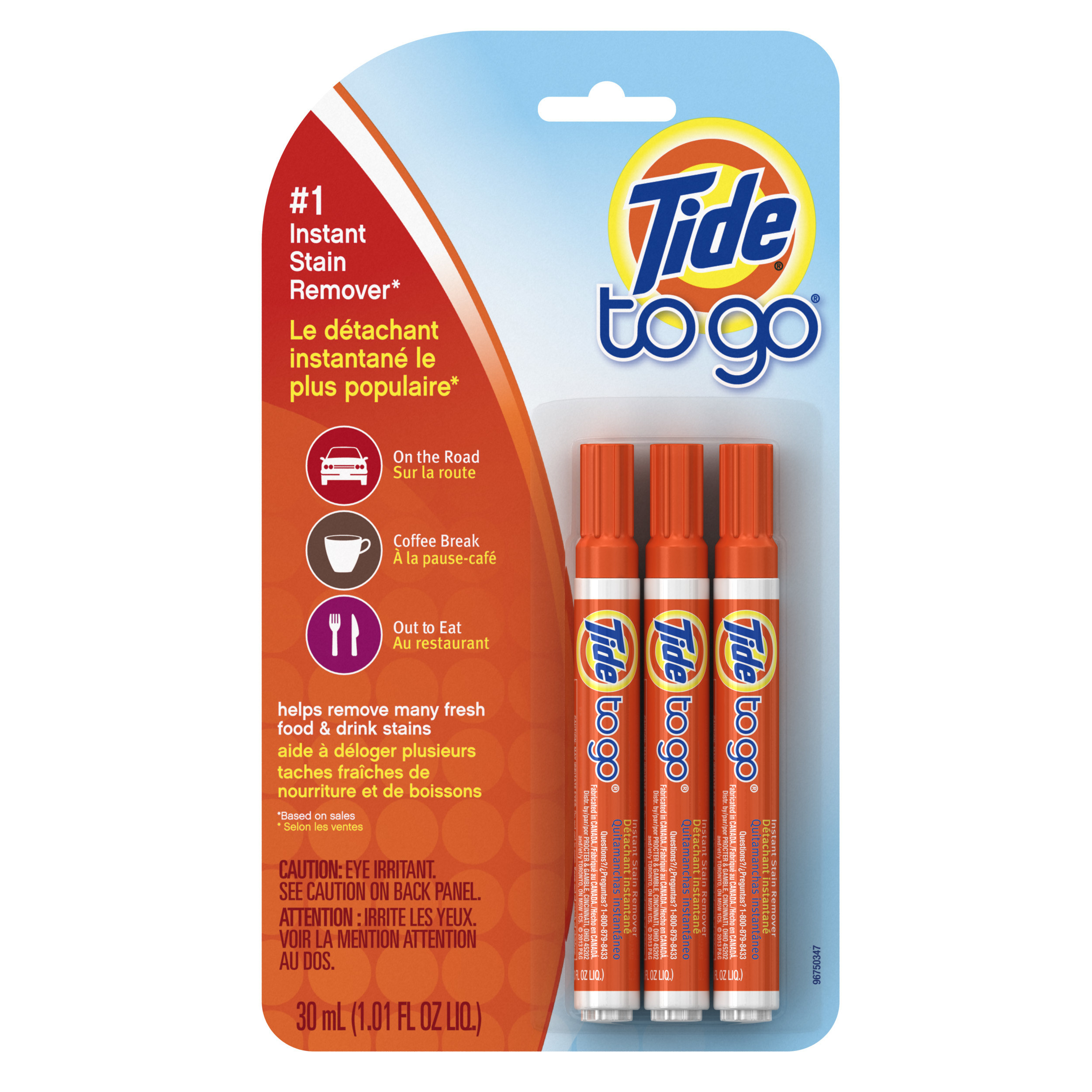 package of three tide to go pens