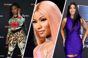 Megan, Nicki Minaj, and Cardi B.