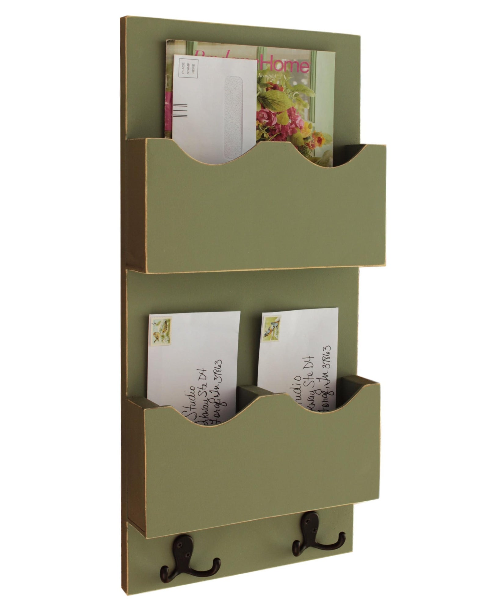 The sage Tall Mail Organizer with two mail slots