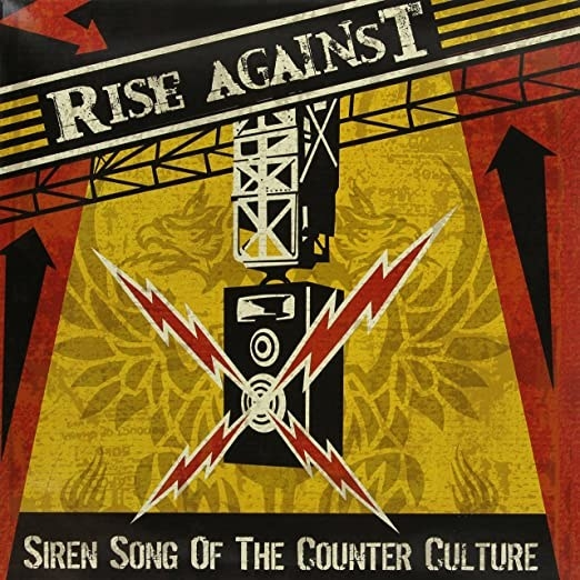 album cover of Siren Song of the Counter Culture showing a speaker hanging from a track blaring music