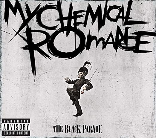 album cover of The Black Parade with a skeleton in a marching in a military dress